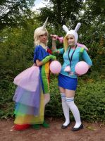 Fionna and Lady Rainicorn 2 by MayoInvasion
