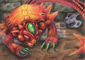 ACEO - Helmasaur by BloodhoundOmega