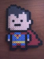 Perler Beads Superman by bubdude