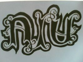 Ayu Ambigram by weejelek