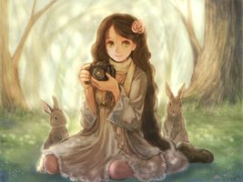 The rabbit of the forest by so-jiro