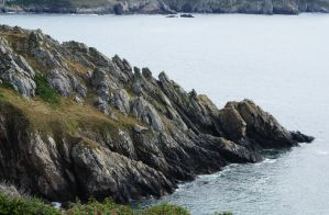 Small cliff in britany by beedoll