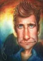 Caricature Jake Gyllenhaal by ShadowYingZhi