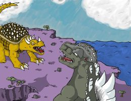 Godzilla Raids Again by Mecha-Anguirus