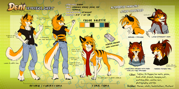Deni Reference Sheet (2011) by SilverDeni