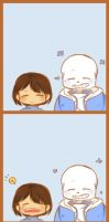 Sans x Frisk by Tiffy-OoO