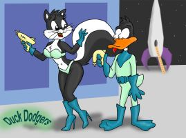 Penelope_y_Duck_Dodgers by KikeRodz
