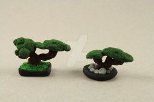 Miniature Bonsai Trees set 1 by BeautifulEarthStudio