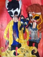 .:Cat hunter, Grace and Loky (Gift):. by suriminam