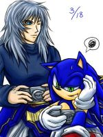 Sonic and WOL_Playing DDFF by maruringo