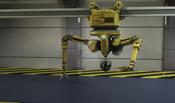 Industrial Robot by storm-bunny