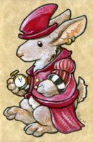 The Rabbit in Red by ursulav