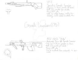 ThroughNineEyes Concepts: CPD Grenade Launchers by Primogenitor34