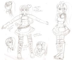 Rave Melody 3D Concept Sketches by Sakurarmarie