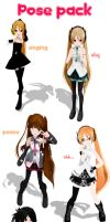 MMD Pose Pack DL by xinshin