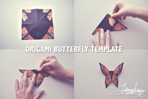 Origami Butterfly Template by Peacefire1