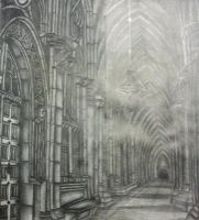 Cathedral Hallway (Inspiration) by OzzieLauren