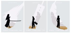FInal Fantasy VII Thematic Posters by IISuperSlothII