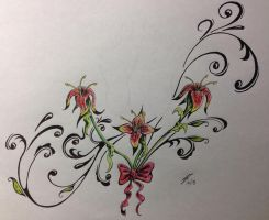 Tattoo Design to Enhance Foot Prints by coyote117