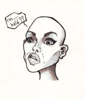 bald chick by j0epep