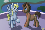 MLP - Derpy and Doctor Whooves by SlushiOwl