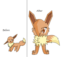 Eevee Before And After by BlossomTehKat