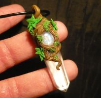Moonlight Forest - handmade Pendant by Ganjamira