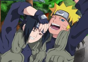 Together .:Sasuke and Naruto:. by Samr0iD