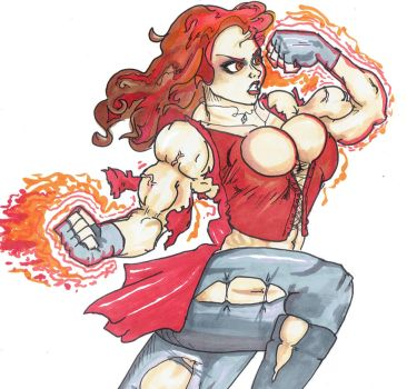 Art Trade - Scarlet Witch FMG by AmateurUnleaded