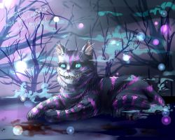Cheshire Cat wallpapers by Ametist-nyako