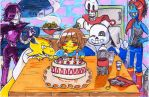 Gift : Happy Birthday forom Undertale by TheAlisssou