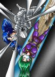 Miki and Aremi classic peril by ARNie00