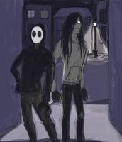 Jack and Jeff in an Alleyway by LinmirianJoyrex
