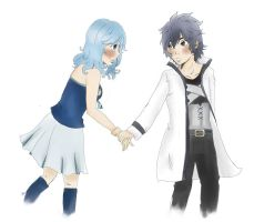 Juvia - Gray. Am I always invisible to you by Historyofshadow