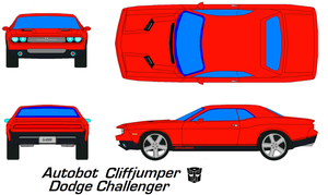 cliffjumper Dodge Challenger by bagera3005