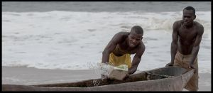 Congolese fishermen by PasoLibre