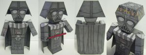 Darth Vader paper toy prototype by Ditch-scrawls