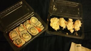 My sushi dinner  by 8TeamFriends8