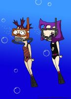 Scuba Gretchen and Gaz by VoyagerHawk87