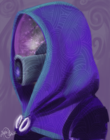 Advent Doodles Day 3 - Tali by LOBrien