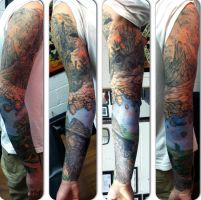Lord of the Rings sleeve by greyfoxdie85