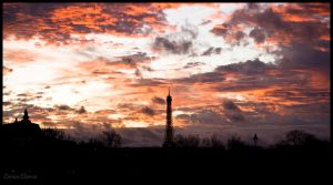 Sky and Eiffel Tower by koryna
