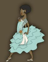 Turquoise Flapper by Adelie-Helene