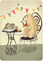 Afternoon Tea: Hedgehog with crumpets by ditto9
