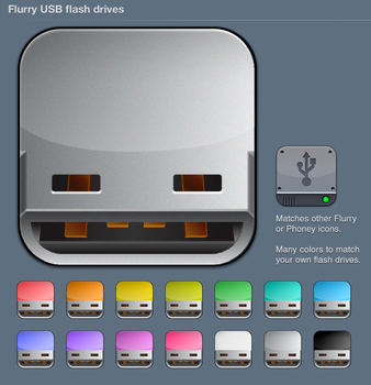 Flurry USB Flash Drive icons by iynque