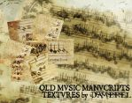 Textures: Old Music Manuscript by damerel
