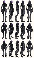 Mass Effect, Tali - Model Reference. by Troodon80