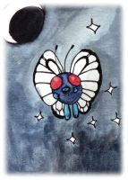 Butterfree Sketch Card by melllic