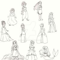 Disney Princesses by Samara3D
