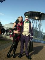 Harley and Joker Cosplay at 2014 Sydney Supernova by rbompro1